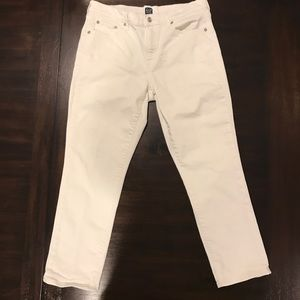 Gap White Denim Capris